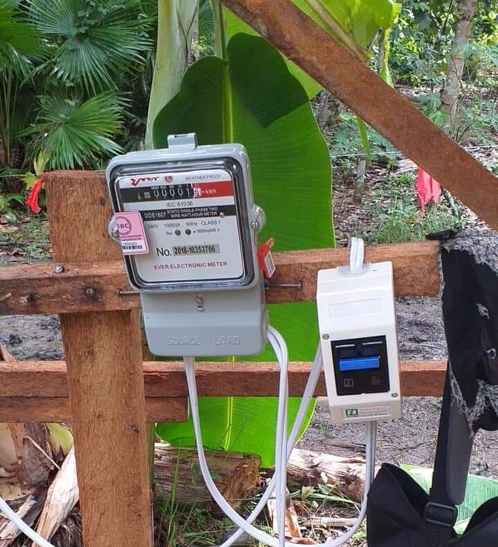 "That was the electrical meter,  installed ""in the woods"" just three days after ordering ..."